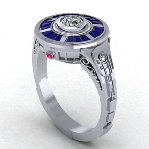 star wars droid engagement ring paul michael design