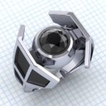 star wars tie fighter ring jewelry