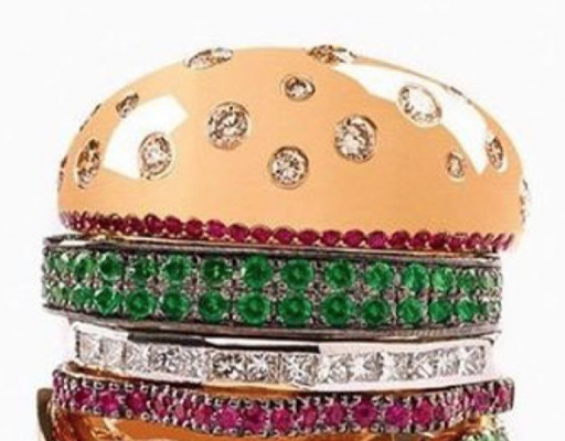 Delicious Jewelry With Nadine Ghosne's Burger Ring