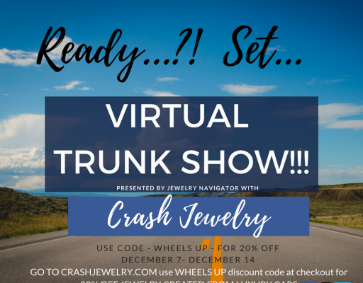 Virtual Trunk Show With Crash Jewelry Made From Luxury Cars-Wheels Up!